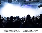 people at a concert | Shutterstock . vector #730285099