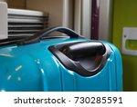 suitcases onboard tgv train ... | Shutterstock . vector #730285591