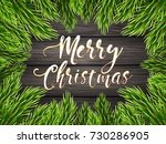 painted wooden background with... | Shutterstock .eps vector #730286905