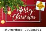 christmas banner or poster with ... | Shutterstock .eps vector #730286911