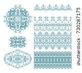 set of decorative elements on... | Shutterstock .eps vector #730287175