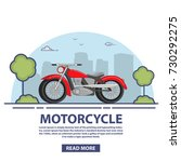 the motorcycle is classical... | Shutterstock .eps vector #730292275