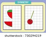 draw the other half of each... | Shutterstock .eps vector #730294219