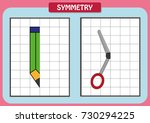 draw the other half of each... | Shutterstock .eps vector #730294225