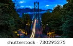 Stock photo lions gate bridge north vancouver british columbia canada 730295275