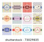 set of greeting cards design | Shutterstock .eps vector #73029835
