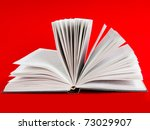 open book on red background | Shutterstock . vector #73029907
