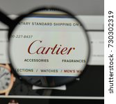 Small photo of Milan, Italy - August 10, 2017: Cartier logo on the website homepage.