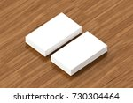 business cards blank mockup  ... | Shutterstock . vector #730304464