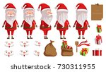 santa claus. creation set of... | Shutterstock .eps vector #730311955