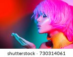 high fashion model woman... | Shutterstock . vector #730314061