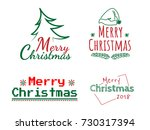merry christmas text with... | Shutterstock .eps vector #730317394