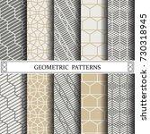 geometric vector pattern... | Shutterstock .eps vector #730318945