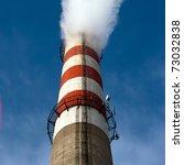 high tube with white smoke... | Shutterstock . vector #73032838