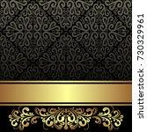 elegant black ornamental... | Shutterstock .eps vector #730329961