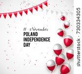 11 november  poland happy... | Shutterstock .eps vector #730334305