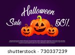 bright banner with pumpkins for ... | Shutterstock .eps vector #730337239
