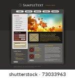 vector website design template | Shutterstock .eps vector #73033963
