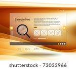 vector website design template | Shutterstock .eps vector #73033966