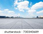 empty marble floor and... | Shutterstock . vector #730340689