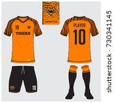 soccer jersey or football kit ... | Shutterstock .eps vector #730341145
