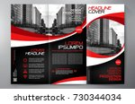 business brochure. flyer design.... | Shutterstock .eps vector #730344034