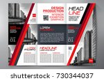 business brochure. flyer design.... | Shutterstock .eps vector #730344037