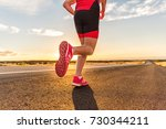 running shoes on male... | Shutterstock . vector #730344211