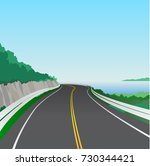 road to summer vector background | Shutterstock .eps vector #730344421