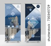 business roll up design... | Shutterstock .eps vector #730345729