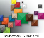 colorful squares abstract... | Shutterstock .eps vector #730345741
