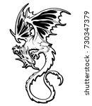dragon illustration object   Shutterstock .eps vector #730347379