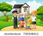 vector illustration of cartoon...   Shutterstock .eps vector #730348411