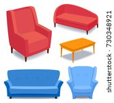 furniture interior icons home... | Shutterstock .eps vector #730348921