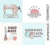 handmade needlework craft... | Shutterstock .eps vector #730349017