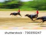 motion blurred of buffalo... | Shutterstock . vector #730350247