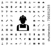 builder icon. set of filled... | Shutterstock .eps vector #730351255