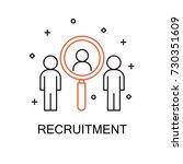 recruitment. creative idea... | Shutterstock .eps vector #730351609
