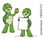 Vector Illustration Of Turtles...