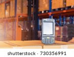 bluetooth barcode scanner in... | Shutterstock . vector #730356991