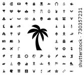 palm icon. set of filled... | Shutterstock .eps vector #730357231