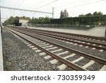 train track at rural area | Shutterstock . vector #730359349