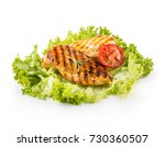 roasted and grill chicken... | Shutterstock . vector #730360507