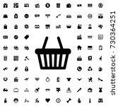 shopping basket icon vector... | Shutterstock .eps vector #730364251