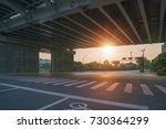 the steel structure bridge in... | Shutterstock . vector #730364299