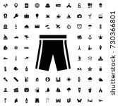 shorts icon vector isolated on...
