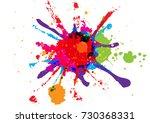 abstract splatter red orange... | Shutterstock .eps vector #730368331