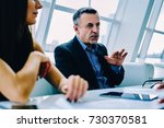 matured owner of corporation... | Shutterstock . vector #730370581