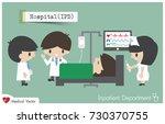 inpatient department in... | Shutterstock .eps vector #730370755