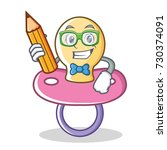 student baby pacifier character ... | Shutterstock .eps vector #730374091
